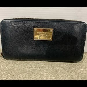 Michael Kors Black Leather Wallet Purse